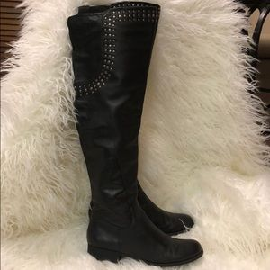 Matisse black silver over knee tall boots 8.5M